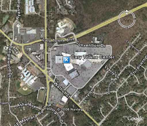 Google Earth View Of Cary Towne Center